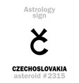 astrology asteroid czechoslovakia vector image
