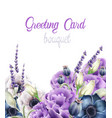autumn flowers greeting card vector image vector image