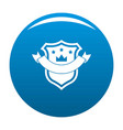 badge quality icon blue vector image