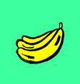 banana grunge icon hand drawn vector image vector image