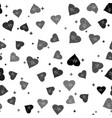 black heart rate icon isolated seamless pattern on vector image vector image
