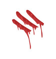 bloody fingerprint with streaks vector image vector image