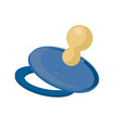 Blue baby nipple vector image
