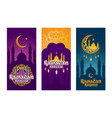 collection colored banners for ramadan vector image