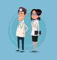 color background male and female team surgeons vector image vector image