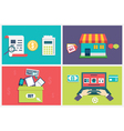 Concept of process online shopping vector image vector image