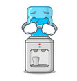 crying water cooler with plastic bottle cartoon vector image vector image