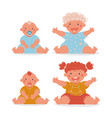 cute little boy and girl cartoon character growth vector image
