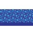 dark blue turkish floral horizontal border vector image vector image