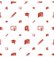 degree icons pattern seamless white background vector image vector image