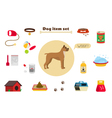 Dog items set care object and stuff Elements