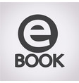 e-book icon vector image