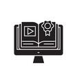 ebook library black concept icon ebook vector image vector image