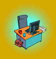 empty office working place vector image