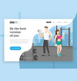 fitness landing page vector image vector image