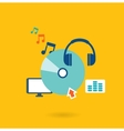 Flat design concept for listening to music vector image vector image