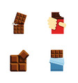 flat icon cacao set of cocoa wrapper shaped box vector image vector image
