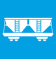 freight railroad car icon white vector image vector image