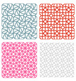 geometric mesh seamless pattern in korean style vector image vector image