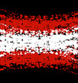 grunge blots austria flag background vector image vector image