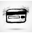 Grunge credit card icon vector image vector image