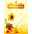 Happy Thanksgiving autumn food background vector image vector image