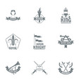honor logo set simple style vector image vector image