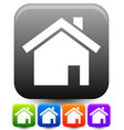 house symbols on rounded squares with highlight vector image