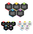 infographic hexagon set in color design vector image vector image