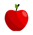 isolated red apple icon vector image vector image
