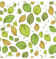 Leaves pastel color pattern seamless vector image vector image
