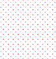 little hearts pattern vector image vector image