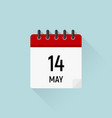 may 14 mothers day calendar icon data days of vector image