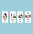 mobile application for old people senior men vector image vector image