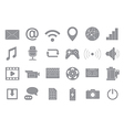 Multimedia gray icons set vector image vector image