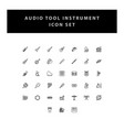 musical instruments icons set with outline design vector image
