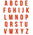 Nice red retro alphabet set vector image