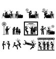 people hate smoker smoking in public places vector image