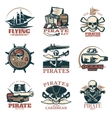 Pirates Emblem Set In Color vector image vector image