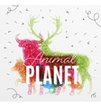 Poster animal planet tangled vector image vector image