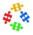 puzzle on white background stock vector image vector image