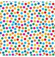 Rainbow bright dots seamless pattern vector image
