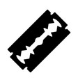 razor blade silhouette design isolated on white vector image vector image