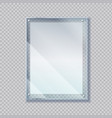realistic poster in glass frame 3d sheet paper vector image