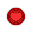 red heart logo 3d disks shapes creative round vector image vector image