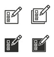 registration icon set vector image