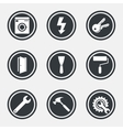 Repair construction icons Electricity keys vector image