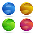s rounded logo template vector image