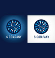 s web company logo concept vector image