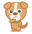 Sad dog character cartoon